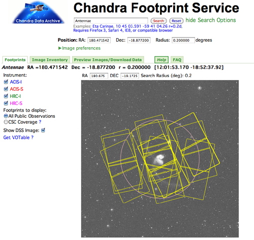 Chandra Footprint Service
