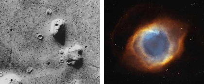 Face on Mars and Eye of God