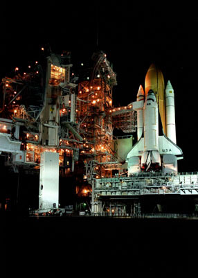 Chandra & Columbia on Launch Pad
