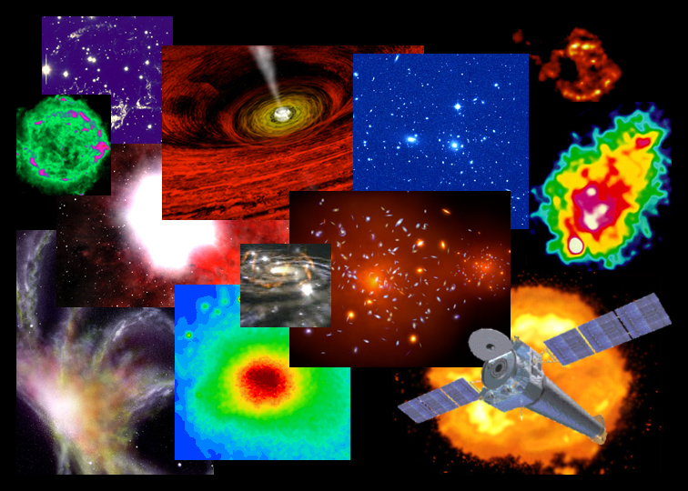 collage of astronomical images