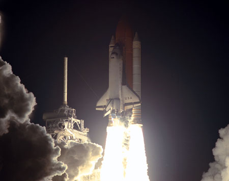 Click For Large Jpg 3 STS 93 Launch Space Shuttle Columbia Changes Night