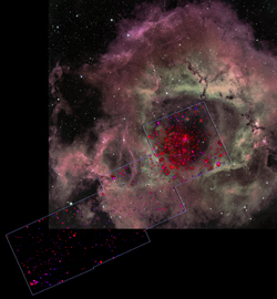 Rosette Nebula Optical/X-ray Composite