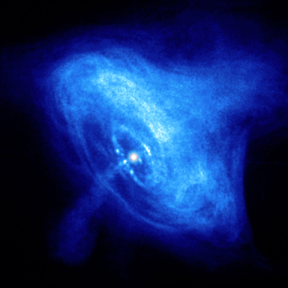 Video Crab nebula pulsar with disk and jets in X-ray