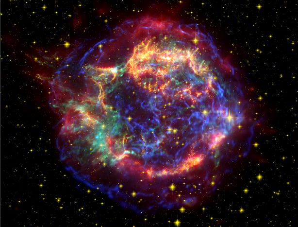 Cassiopeia A in Many Colors