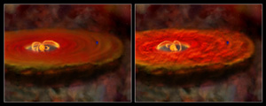 Fig 6: Large flares: turbulent disk illustrations