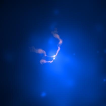radio- og røntgenbillede af jettene fra 3C75