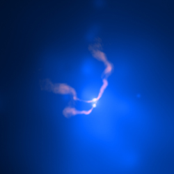 Chandra X-ray & VLA Radio Image of 3C 75 in Abell 400