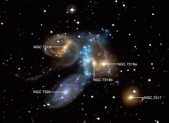 Le Quintet de Stefan observé en rayon x avec le télescope Chandra