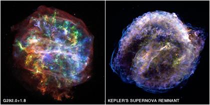G292.0+1.8 & Kepler's Supernova Remnant