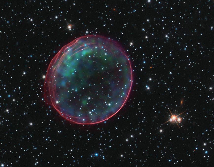 Supernova SNR 0509 dans le rayonnement x