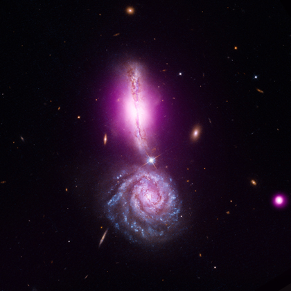 Kolizja galaktyk.