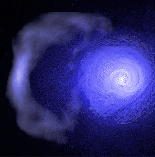 Image of the cold front in the Perseus Cluster